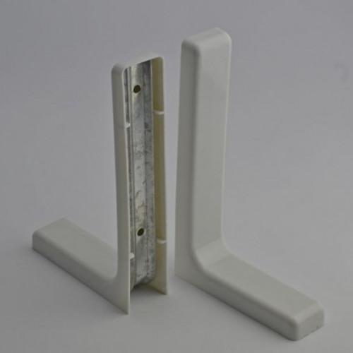 Uchwyt Pod Półkę Biały L 180mm 2 Szt